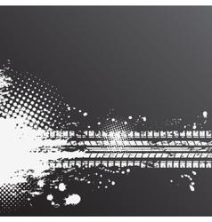 Grunge tire track background vector