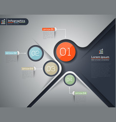 Modern business infographics graphic design layout vector