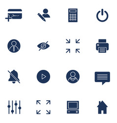 modern flat icons collection interface vector image