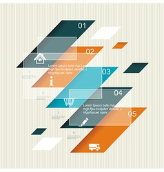 Modern step origami style options banner vector