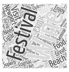 Newport Beach Food And Wine Festival Word Cloud vector image