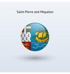 Saint-pierre and miquelon round flag vector