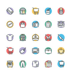 Shopping Cool Icons 1 vector image vector image