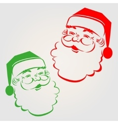 silhouette of Santa Claus vector image vector image
