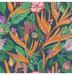 Tropical Floral Pattern vector image