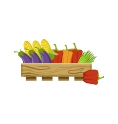Vegetables On Market vector image vector image