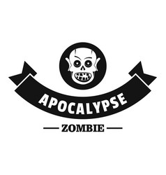 Zombie hunting logo simple black style vector