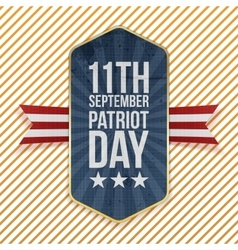 Eleventh september patriot day emblem vector