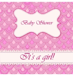 Baby shower flake background girl vector image