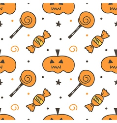 Trick or treat halloween seamless pattern vector