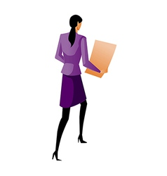 Rear view of businesswoman vector
