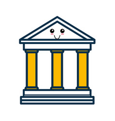 University building cartoon vector