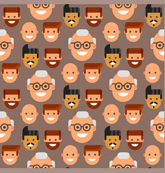 Men head portrait seamless pattern friendship vector