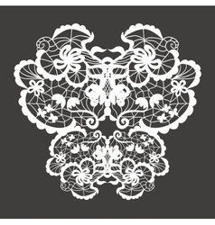 Lace ornament vector