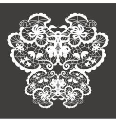 Lace ornament vector