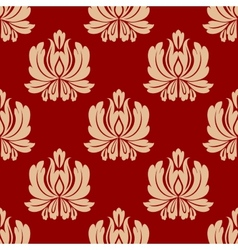 Damask style repeat floral design vector