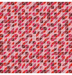 Mosaic of triangles in shades of red vector