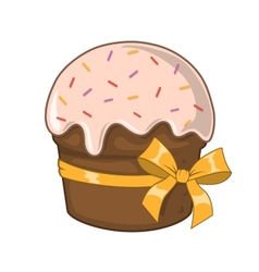 Easter traditional cake vector