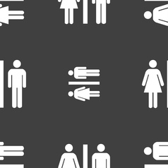 Silhouette of a man and a woman icon sign seamless vector