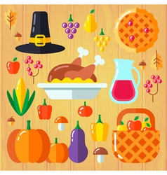 Thanksgiven set vector
