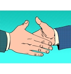 Deal handshake business concept vector