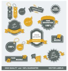 Labels retro 1 vector