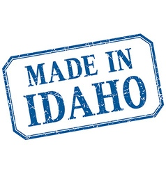 Idaho - made in blue vintage isolated label vector