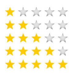 a five-star rating vector image