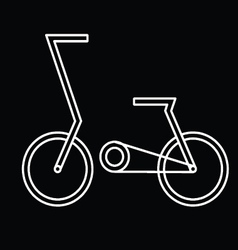 abstract bicycle vector image vector image