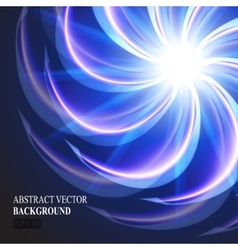 abstract glowing element vector image