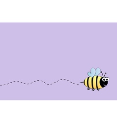 Bee flight background vector