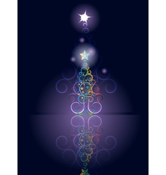 Card with Decorative Christmas Tree3 vector image vector image