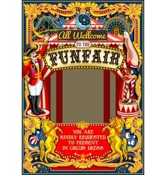 Circus carnival frame vintage 2d aurielaki vector