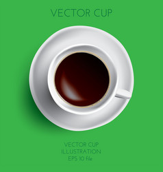coffee cup isolated on green vector image vector image