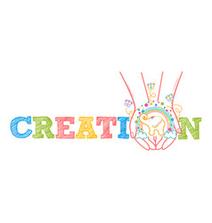 Concept of child development creativity vector
