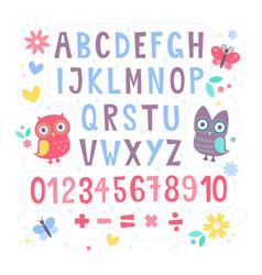 Cute cartoon colorful alphabet for children vector