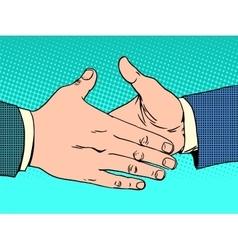 Deal handshake business concept vector