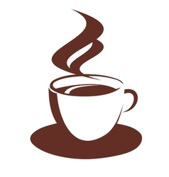 Doodle sketch of steaming coffee cup vector