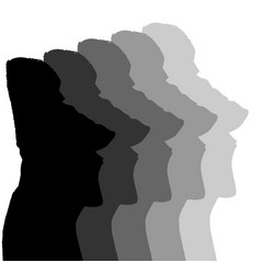 Easter island monolithic heads vector