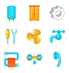 electronic house icons set cartoon style vector image vector image
