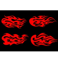 fire flames in tribal style vector image vector image