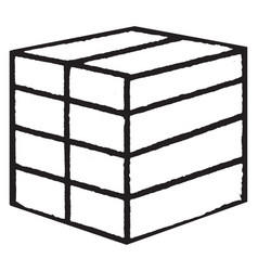Froebels divided cube or eight smaller vector