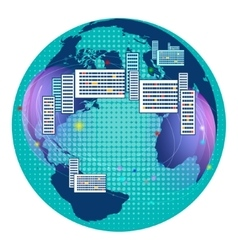 Global Digital mesh network communications vector image