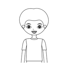 Half body child silhouette with t-shirt vector
