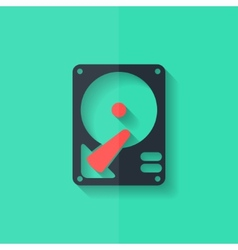 Hard disc icon flat design vector