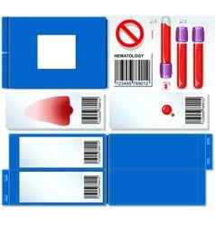 Hematology Test Complete Set vector image