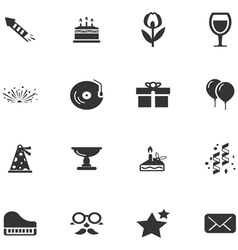 Party time icons set vector image