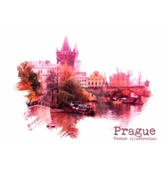 Prague vector image