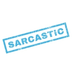 Sarcastic rubber stamp vector