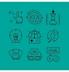Set of line icons in the flat style vector image vector image